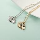 Fashion water wave chain pearl beaded irregular geometric necklace wholesale NHQIY341575