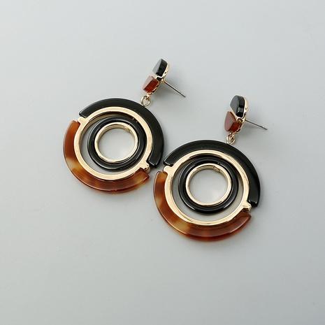 Boucles d'oreilles en acrylique en métal de cercle de mode NHQIY341573's discount tags