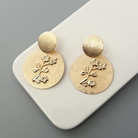 Boucles d'oreilles en alliage simples incrustées de fleurs de disque de mode NHQIY341585's discount tags