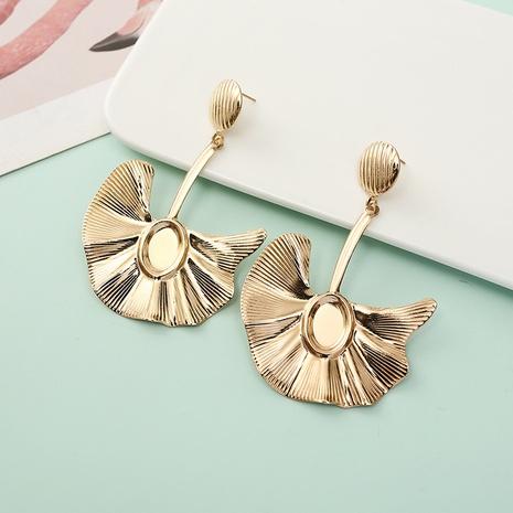boucles d'oreilles en alliage de feuille de ginkgo de mode en gros NHQIY341588's discount tags