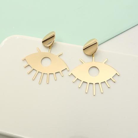nouvelles boucles d'oreilles simples oeil creux géométrique oeil d'or NHQIY341589's discount tags