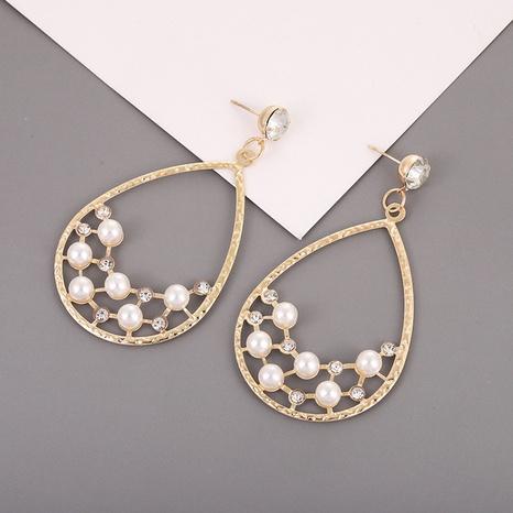 Boucles d'oreilles créatives en perles acryliques en alliage en forme de goutte NHQIY341590's discount tags