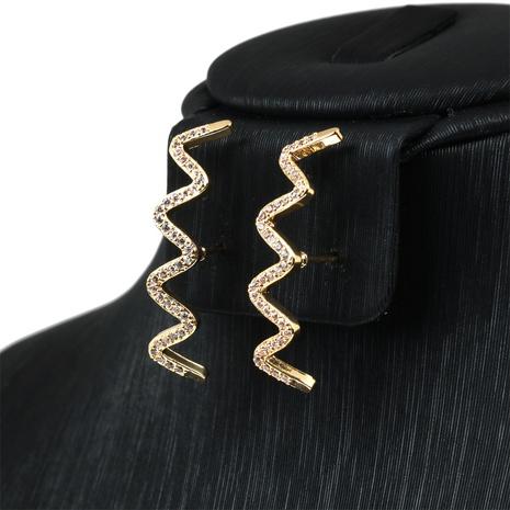nouvelles boucles d'oreilles simples à motif d'eau en cuivre NHPY341597's discount tags