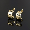 new simple copper geometric interlocking stud earrings NHPY341600