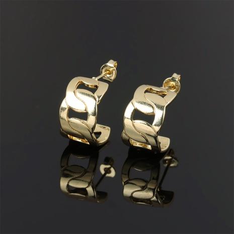 nouvelles boucles d'oreilles simples entrelacées géométriques en cuivre NHPY341600's discount tags