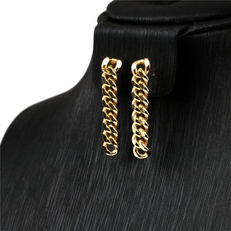 boucles d'oreilles en cuivre avec chaîne à la mode de style punk NHPY341602's discount tags