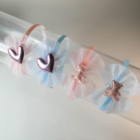 Einfaches Netzgarn-Stirnband der koreanischen Mode NHWB341695's discount tags
