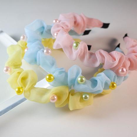 neue koreanische Perle Süßigkeiten Farbe niedlichen Stirnband NHWB341706's discount tags