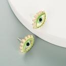 fashion devils eye shape dripping color stud earrings  NHLN341719