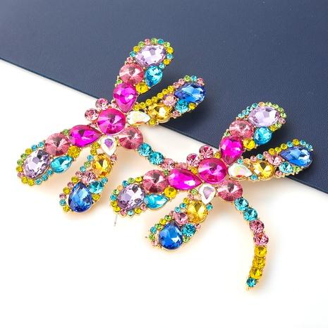 Mode Legierung Glas Diamant Libelle Ohrringe Großhandel NHJE341728's discount tags