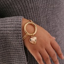 Mode einfache Pfirsich Herzkette Retro bertriebene Halskette NHBW341739