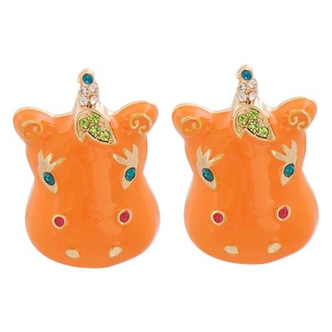 Niedliche kindliche Ponylegierung Ohrringe Großhandel NHJJ341742's discount tags