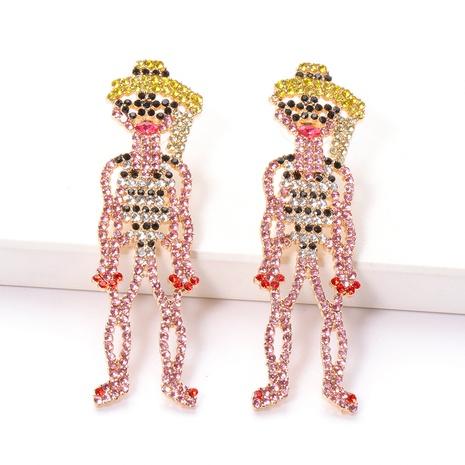 Mode rosa Diamantlegierung Ohrringe Großhandel NHJJ341744's discount tags