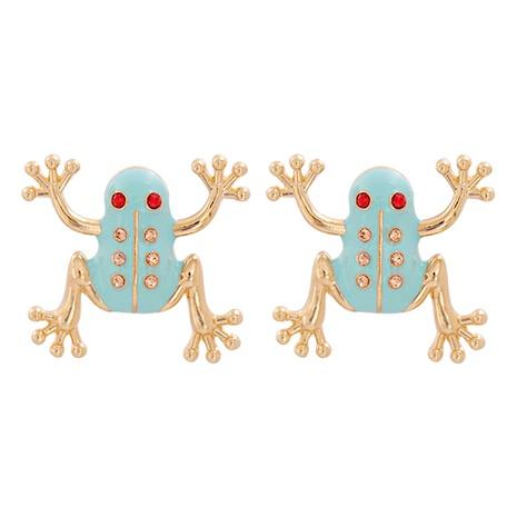 Mode Frosch Strass Legierung Ohrringe Großhandel NHJJ341746's discount tags