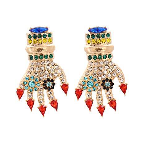 Mode farbige Diamantpalme Legierung Ohrringe Großhandel NHJJ341749's discount tags