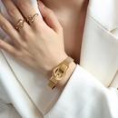 Fashion belt buckle magnet titanium steel bracelet NHOK341759