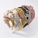 korean exaggerated retro palace style diamond headband NHMD341779