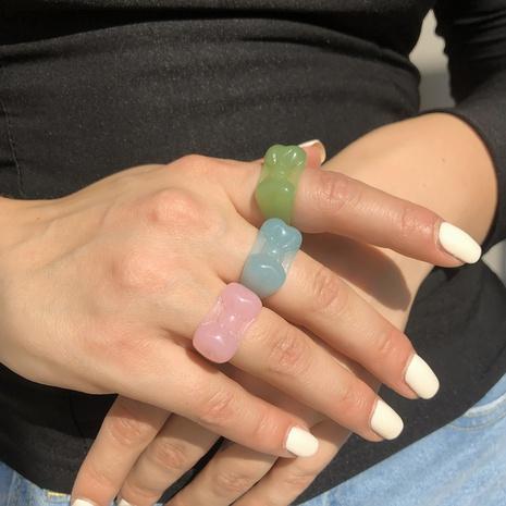 Al por mayor anillo de resina de arco de color caramelo simple NHMD341782's discount tags
