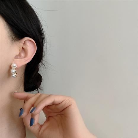 Mode C-förmige drei Perlenohrringe NHYQ341813's discount tags