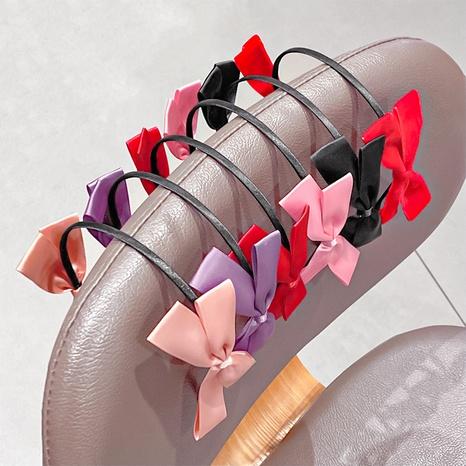 Süßes Stirnband der koreanischen Mode-Doppelschleife NHNA341818's discount tags