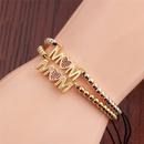 Fashion gold MOM copper zircon bracelet wholesale NHYL341825