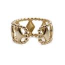 wholesale fashion hollow rhombus beads ring  NHYL341853