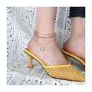 Bracelet de cheville en alliage sexy multicouche lettre de mode D en gros NHCT341867