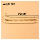 Bracelet de cheville en alliage sexy  chane multicouche gomtrique simple en gros NHCT341872