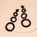Fashion geometric circle resin earrings wholesale NHAI341895