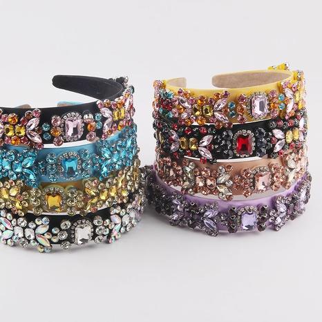 New fashion Baroque multicolor diamond-studded rhinestone headband NHWJ341912's discount tags