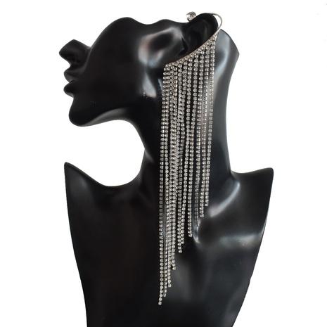 Mode Flügel Legierung Diamant lange Quaste Ohrringe NHNT341943's discount tags