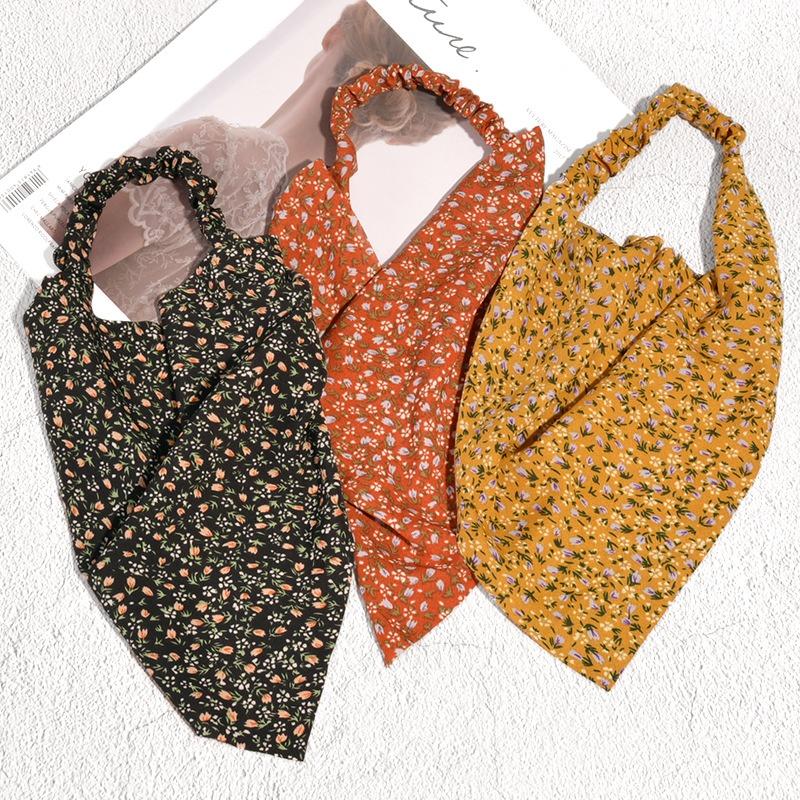 fashion elastic floral triangle headgear wholesale NHAQ341957