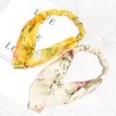 Korean printed fabric headband wholesale NHAQ341958