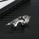 punk spell skull hollow lion bendable ring  NHGO341960