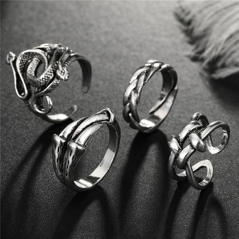 anillo animal con garra de serpiente sinuosa punk NHGO341966's discount tags