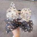 fashion polka dots bow cloth hair rope wholesale NHDQ342001