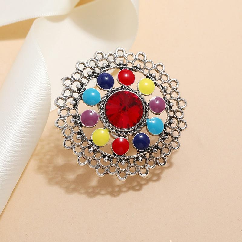 Retro creative fashion Bohemian ethnic style ring NHKQ342073