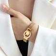 NHOK1587387-Gold-belt-buckle-magnet-bracelet-16.5cm