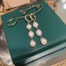 fashion freshwater pearl long tassels earrings NHWK342081