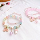 Korean small animal flower crystal double color bracelet wholesale NHHI342110