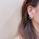 Korean pearl geometric alloy earrings wholesale NHHI342111