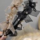 Korean net yarn bowknot threedimensional crystal thin edge headband wholesale NHAR342141