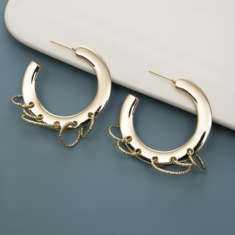 Großhandel Mode Mehrkreis Metall Ohrringe NHQIY342169's discount tags