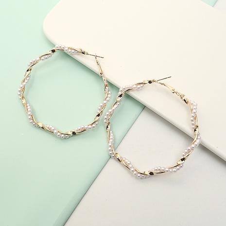 New Fashion Pearl verdrehte Metallohrringe NHQIY342175's discount tags