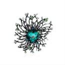 Retro ancient silver diamond brooch wholesale NHDR342202