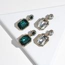 Fashion Diamond Water Drop Alloy Earrings Wholesale NHYAO342246