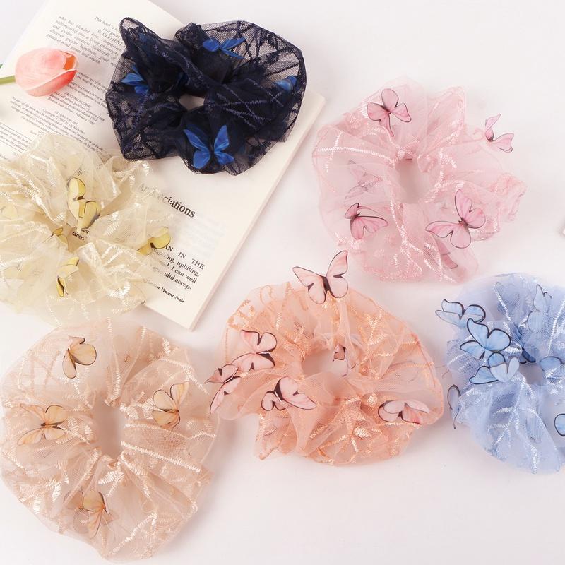 korean fashion new style butterfly hair scrunchies  NHAMD342251