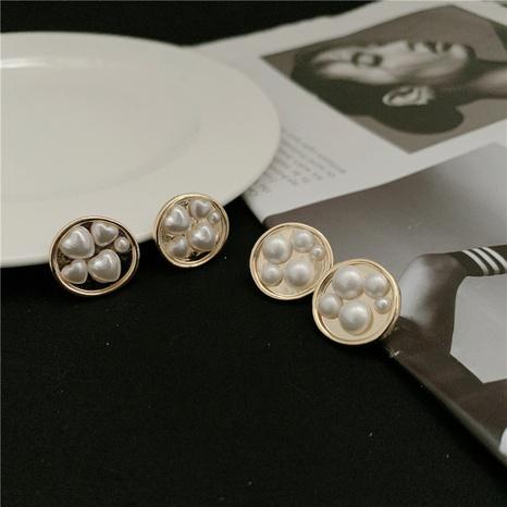 Pendientes de perlas de flores de moda al por mayor NHYQ342318's discount tags