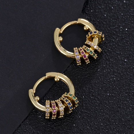 aretes de circonita con micro incrustaciones de cobre geométrico de moda NHXIN342336's discount tags