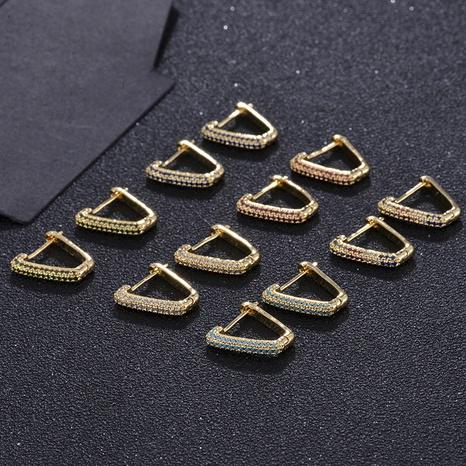 Pendientes de forma de triángulo de circonio de oro real chapado en cobre de moda NHXIN342344's discount tags